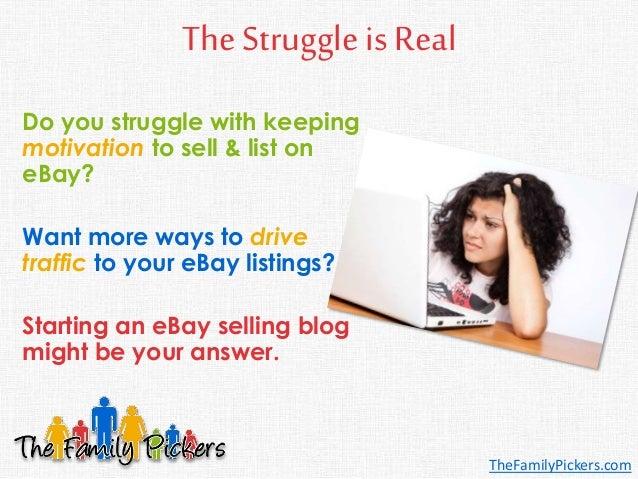 The Reseller's Guide to Starting an eBay Selling Blog Slide 2