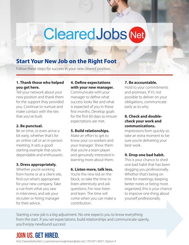 Start Your New Job on the Right Foot