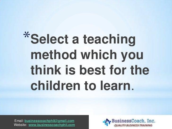 Starting a preschool or day care center Slide 2