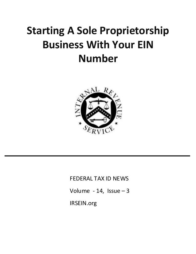 Starting a sole proprietorship business with your ein number
