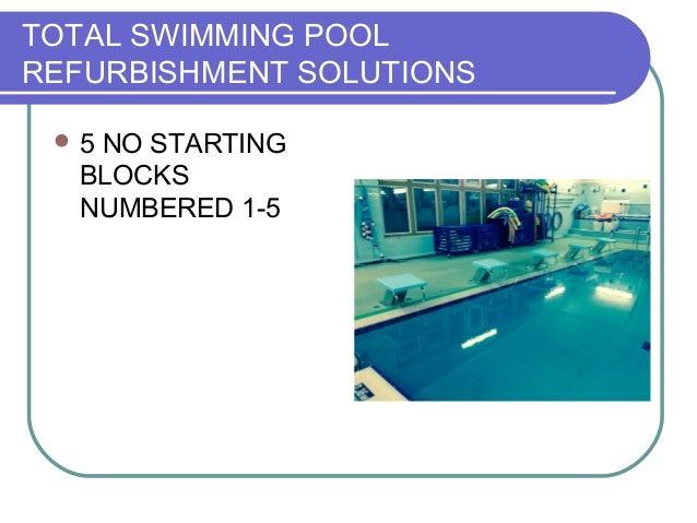 Starting Blocks Competition Pool Equipment