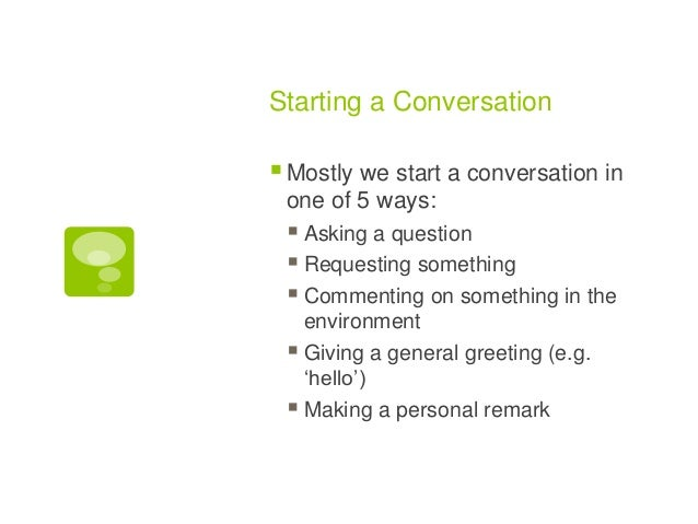 what to start a conversation with