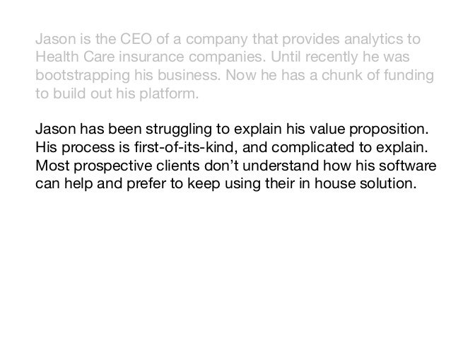 Jason is the CEO of a company that provides analytics to Health Care insurance companies. Until recently he was bootstrapp...