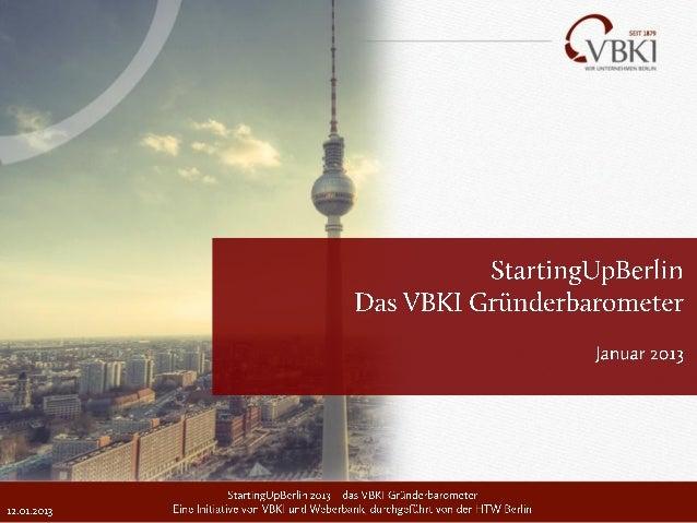 I. Das VBKI Gründerbarometer – Hintergrund