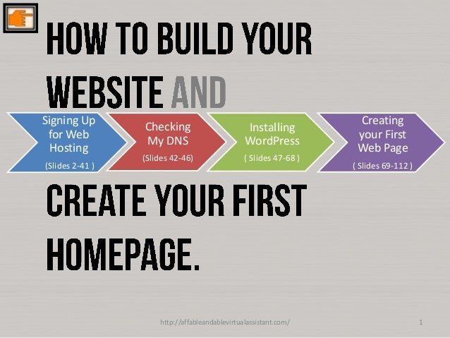 #Starting up: Newbie's basic guide to building wordpress