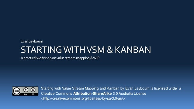 EvanLeybourn STARTINGWITHVSM & KANBAN Apracticalworkshoponvaluestreammapping&WIP Starting with Value Stream Mapping and Ka...