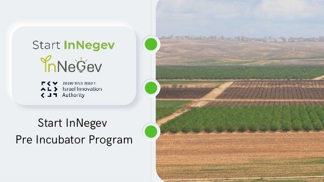 Start InNegev Pre Incubator Program