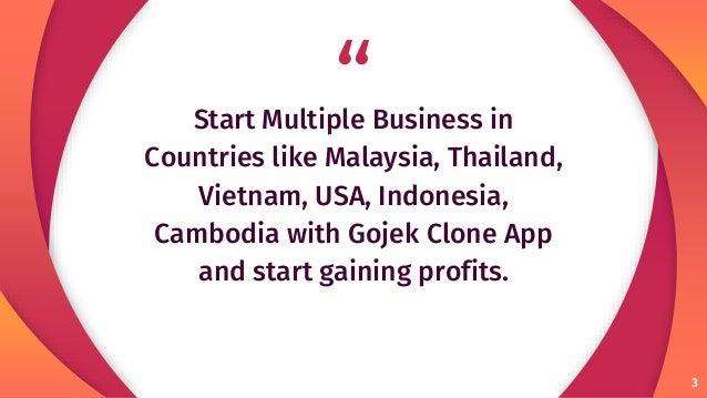 Start Multiple Business in Thailand with Gojek Clone Slide 3