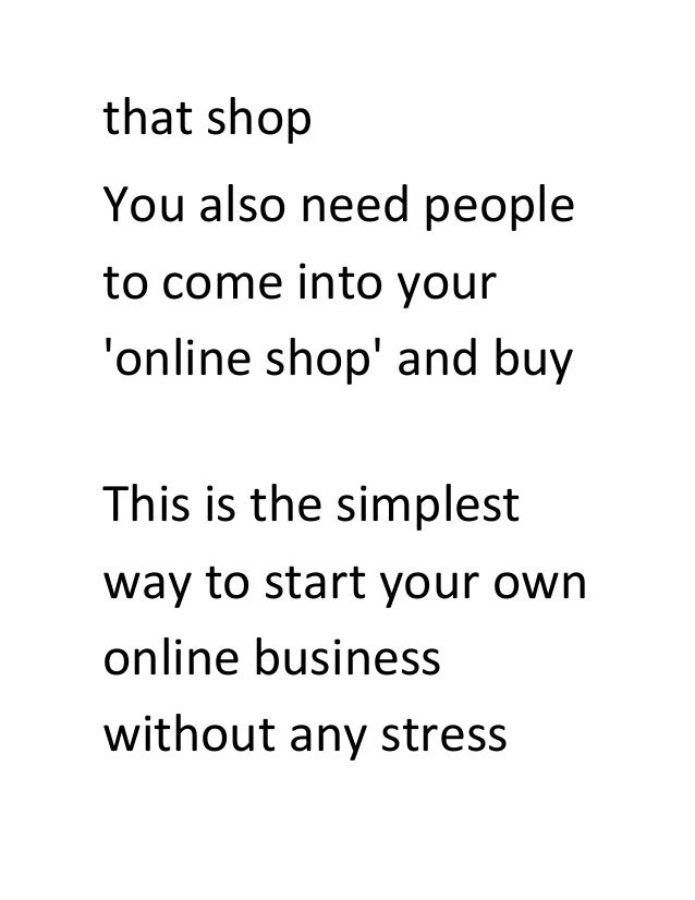 starting my own business online