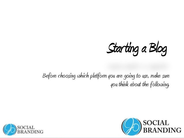 www.jeannineoneil.com StartingaBlog Before choosing which platform you are going to use, make sure you think about the fol...