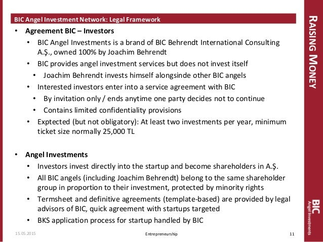 Startnowhow funding the startup stage financing for ventures 11 co investingwithbic agreement bic investors bic angel platinumwayz