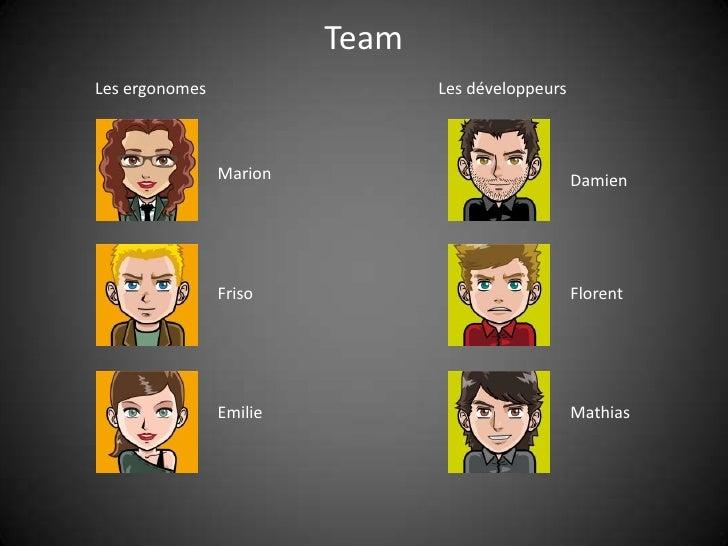 Team Les ergonomes                   Les développeurs                    Marion                             Damien        ...