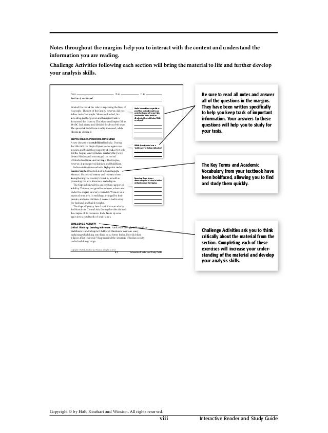 Holt social studies workbook 8 fandeluxe Gallery