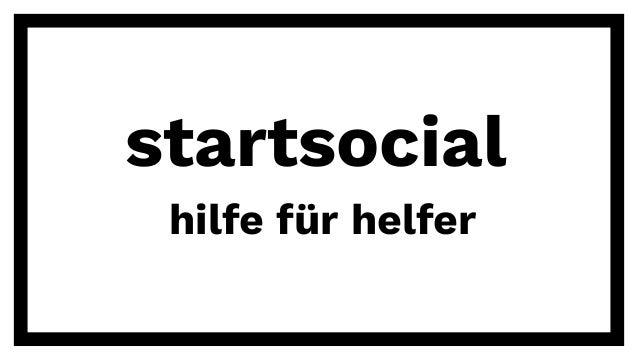 startsocial hilfe für helfer