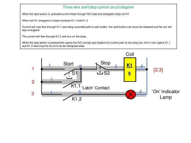 start stop circuit rh slideshare net Stop Start Motor Diagram Electric Motor Start Stop Switch