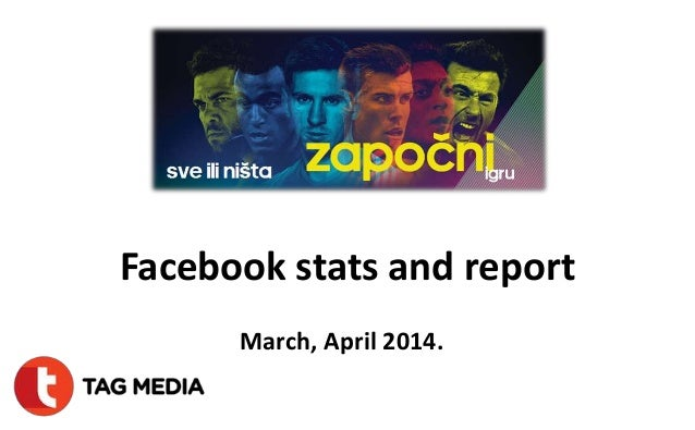 Facebook stats and report March, April 2014.