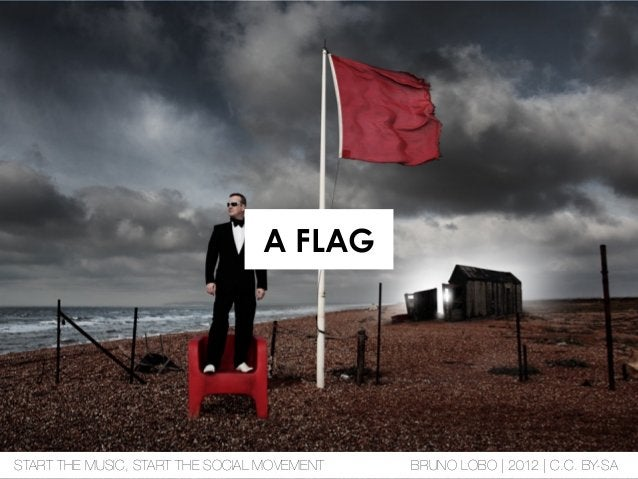A FLAG START THE MUSIC, START THE SOCIAL MOVEMENT BRUNO LOBO | 2012 | C.C. BY-SA