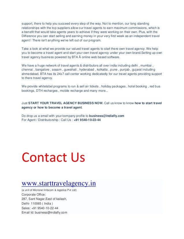 Start Travel Agency Business