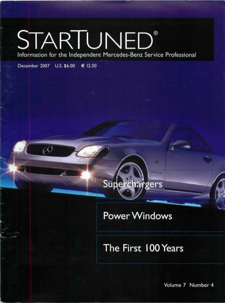 3reVi             STARTUNED             Information for the Independent Mercedes-Benz Service Professional       131.     ...
