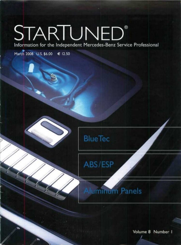 """STARTUNED""""    Information for the Independent Mercedes-Benz Service Professional                                          ..."""