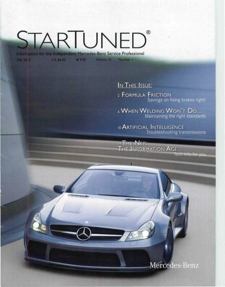 ^ T A R T l IMPH                         tdent Mercedes-Benz Service Professional May 2010   U.S. $6.00       €9.00      V...