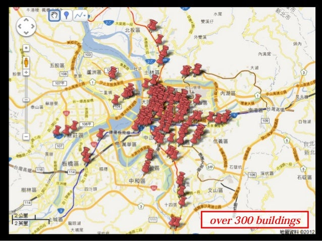 over 300 buildings