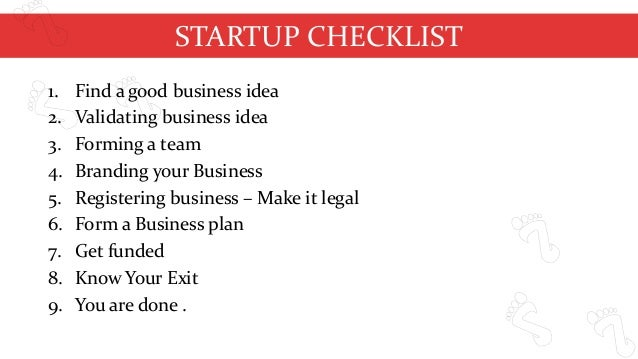 business startup checklist