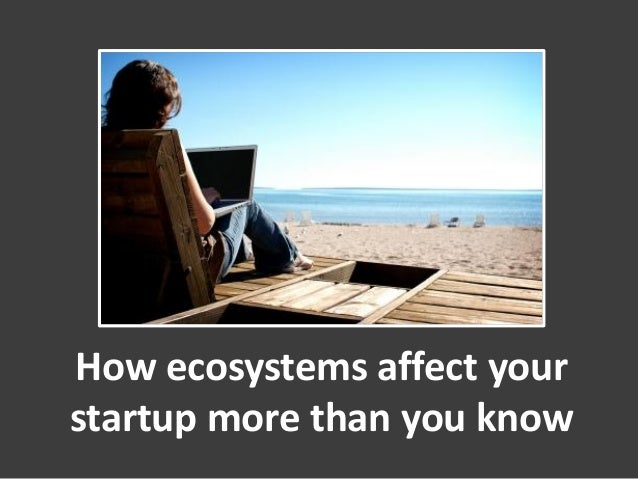 How ecosystems affect yourstartup more than you know