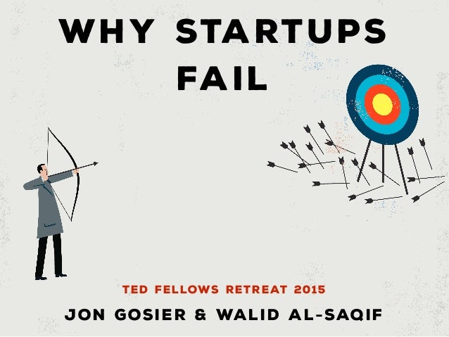 WHY STARTUPS FAIL Jon Gosier & Walid Al-Saqif TED FELLOWS RETREAT 2015
