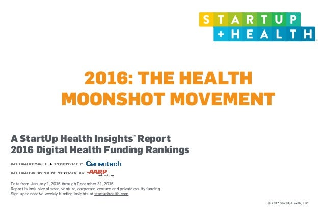© 2017 StartUp Health, LLC A StartUp Health Insights Report 2016 Digital Health Funding Rankings 