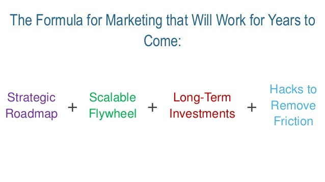 The Formula for Marketing that Will Work for Years to Come: Strategic Roadmap Scalable Flywheel Long-Term Investments Hack...