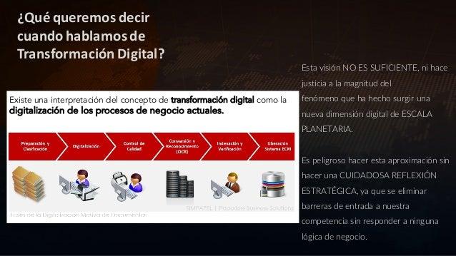 La VELOCIDAD de la Transformación Digital no está acompasada con la velocidad de la innovación tecnológica… Es necesaria u...