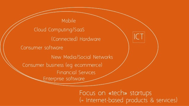 Focus on «tech» startups (= Internet-based products & services) Mobile Cloud Computing/SaaS Enterprise software Consumer s...