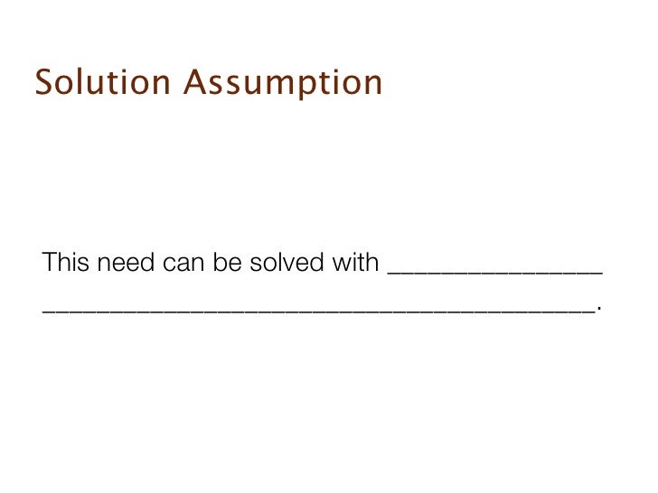 Startup assumptions Slide 3