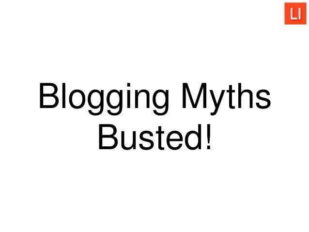 Blogging Myths Busted!