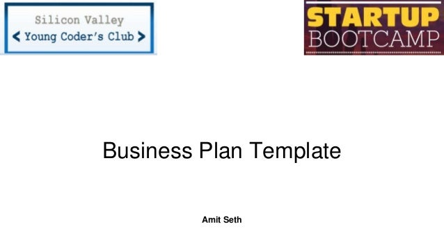 Startup bootcamp business plan template business plan template amit seth wajeb Image collections