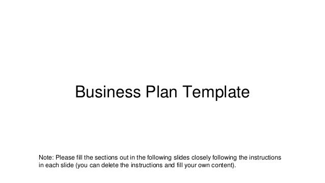 Startup Bootcamp Business Plan Template