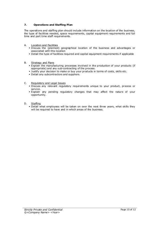 Startup Business Plan Template - Staffing agency business plan template