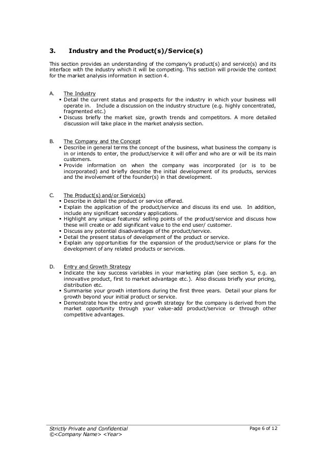 Startup business plan template 2 6 flashek Gallery