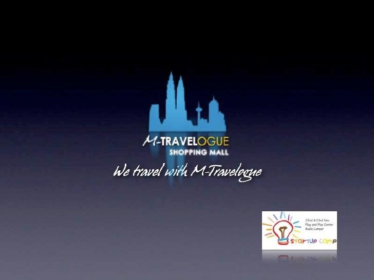 M-Travelogue Shopping Mall demo at Start-Up Camp KL, Malaysia