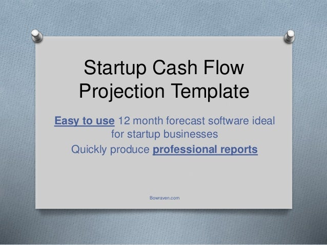 startup cash flow projection template