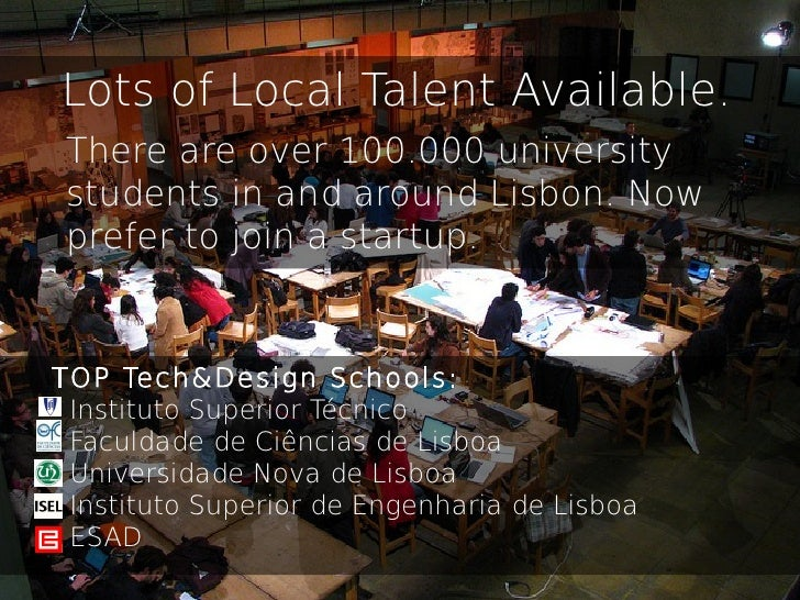 Lots of Local Talent Available. There are over 100.000 university students in and around Lisbon. Now prefer to join a star...