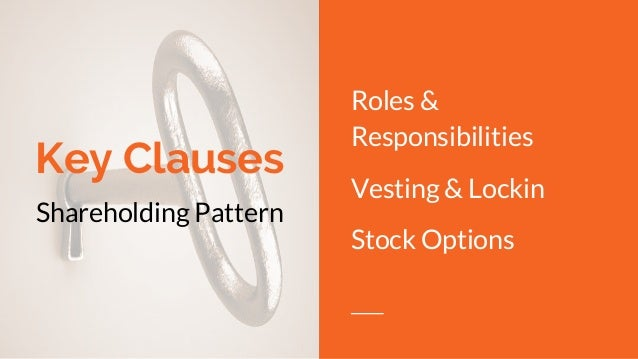 Vesting stock options startup