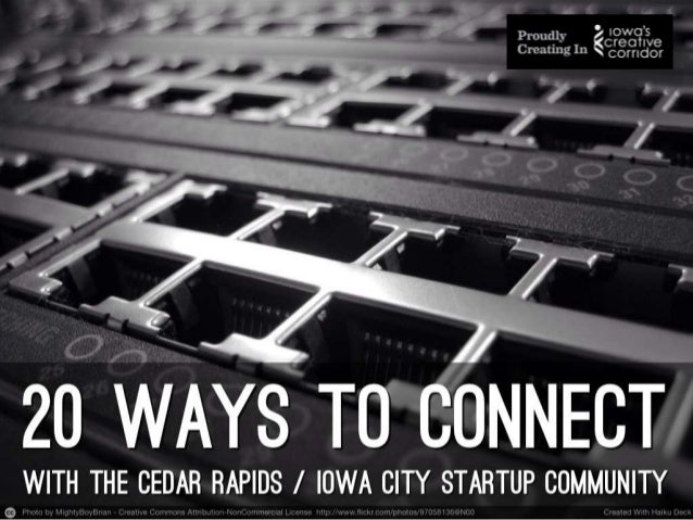 Startup community: 20 resources for Cedar Rapids and Iowa City entrepreneurs