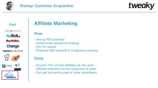 Startup Customer AcquisitionPaidProsCons- Strong ROI potential- Outsourced salesforce strategy- Pay for results- Potential...