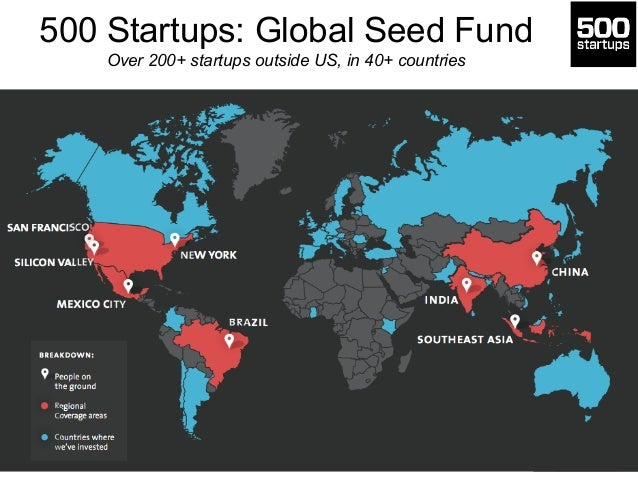 500 Startups: Global Seed Fund Over 200+ startups outside US, in 40+ countries