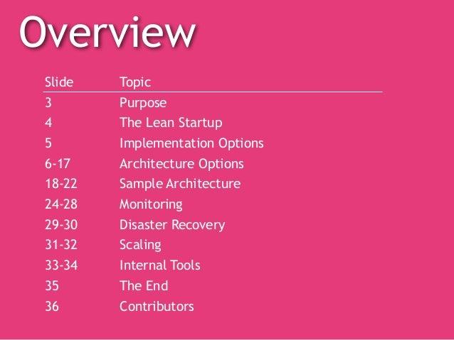 Startup Engineering Cookbook Slide 2