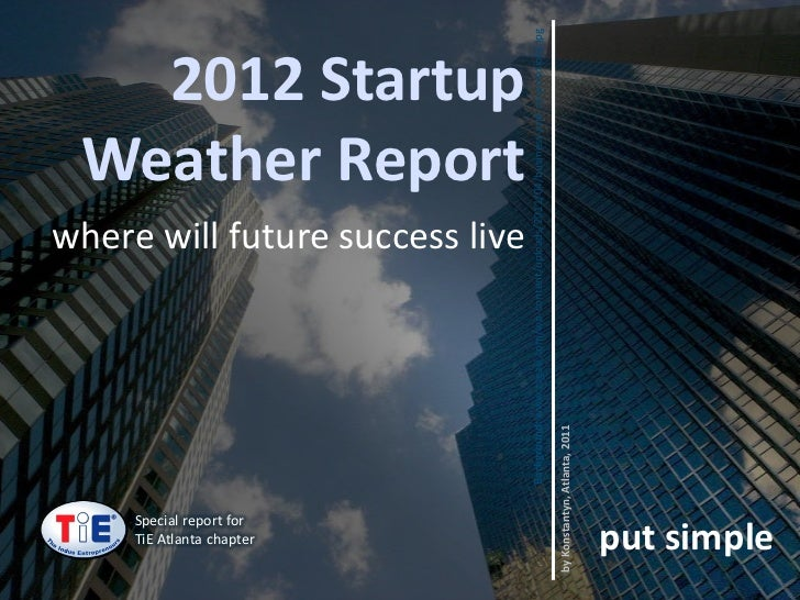 Special report for    TiE Atlanta chapter                                                                   where will fut...