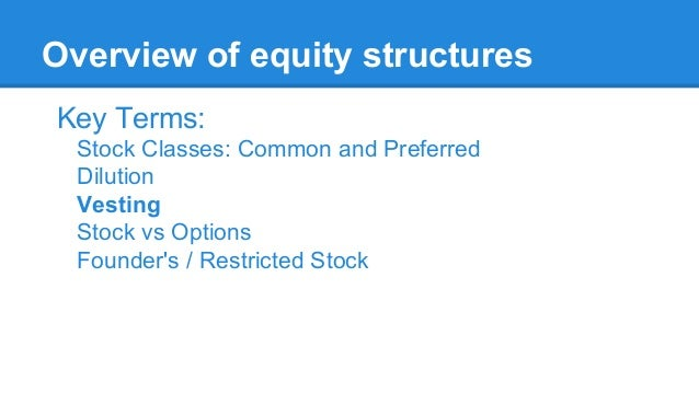 Stock options vs equity