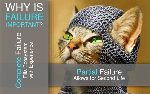 Partial Failure Allows for Second Life CompleteFailure FillsEcosystem withExperience WHY IS FAILURE IMPORTANT?